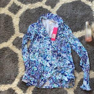 lily Pulitzer pajama top- long sleeve